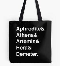 Helvetica Göttinnen (Weiß) Tote Bag