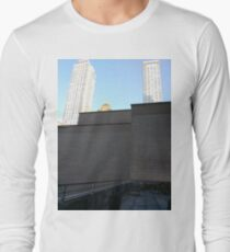 Wall, New York, Manhattan, Brooklyn, New York City, architecture, street, building, tree, car,   Long Sleeve T-Shirt
