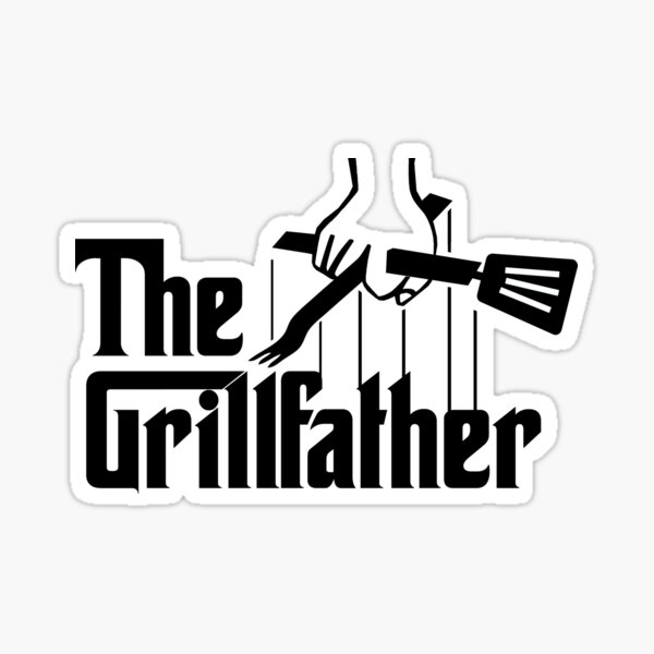 The Grillfather godfather parody funny grilling gift Sticker