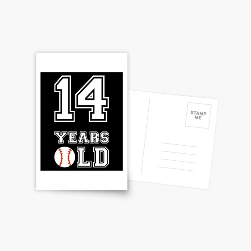 14 Years Old Baseball 14th Birthday Gift Postcard