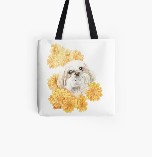 Miss Shih Tzu All Over Print Tote Bag