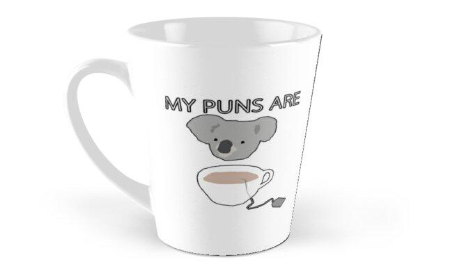 """Koala Tea"" puns by Treeshius"