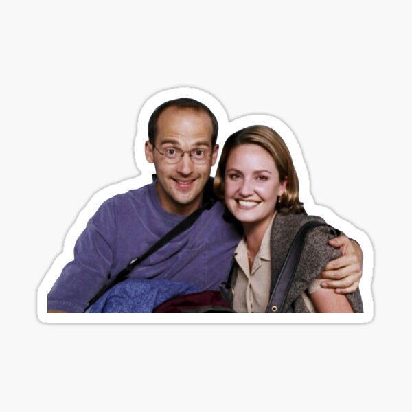 Susan Lewis and Mark Greene ER  Sticker