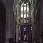 Highest nave in world 155 ft Cathedral Beauvais France 19840827 0014  by Fred Mitchell