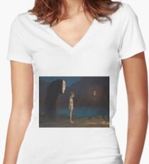 hi Women's Fitted V-Neck T-Shirt
