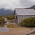 Boat Shed Cradle Mountain by Barbara Helps