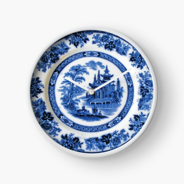 Antique Royal Doulton Madras Asian Pattern Dinner Plate Clock