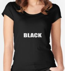 Black Women's Fitted Scoop T-Shirt