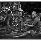 Bali_2018 ... The happy mechanic by Malcolm Heberle
