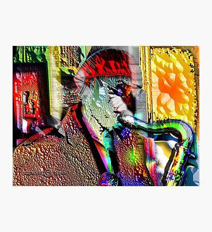 ANATOMY of a SAX MAN Photographic Print