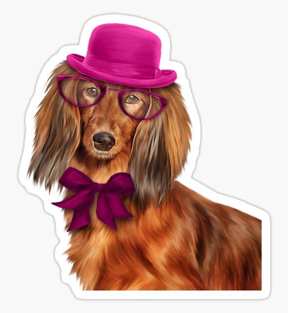 Dog breed dachshund portrait oil painting by bonidog