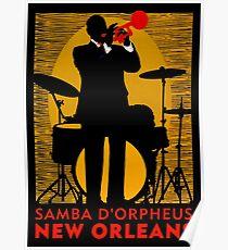 NEW ORLEANS;Vintage Mardi Gras Samba D'Orpheus Print Poster