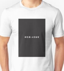 New York Minimalist Black and White - Trendy/Hipster Typography T-Shirt