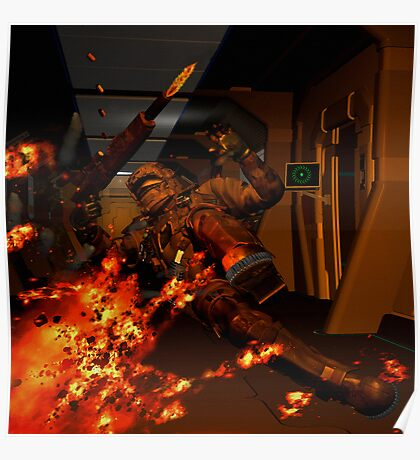 LEVEL THREE TO COMMAND THEY HAVE BREACHED THE BLAST DOORS Poster