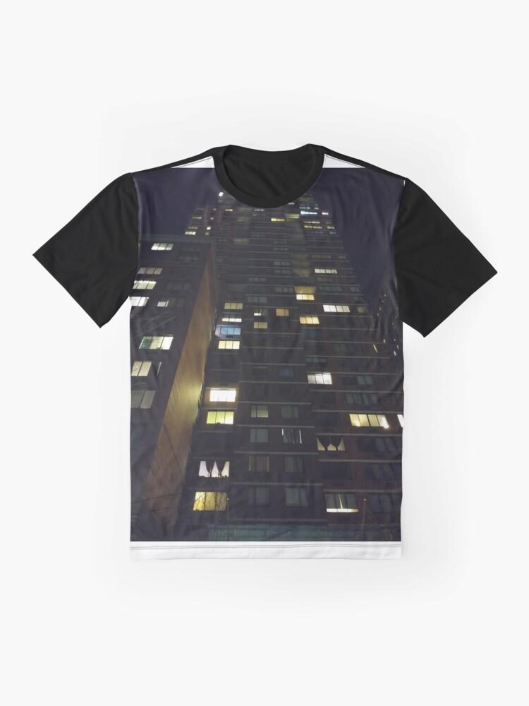 Alternate view of Architecture, New York, Manhattan, Brooklyn, New York City, architecture, street, building, tree, car,   Graphic T-Shirt