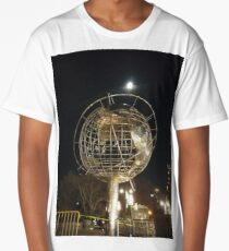 Sphere, New York, Manhattan, Brooklyn, New York City, architecture, street, building, tree, car,   Long T-Shirt