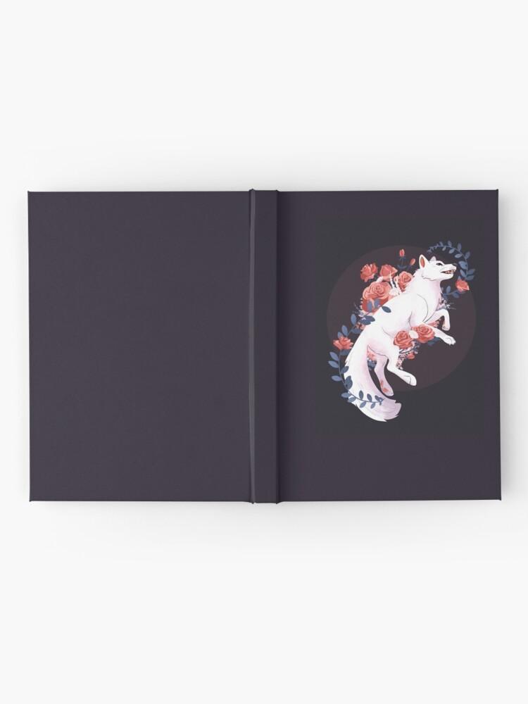 Alternate view of White Flower Wolf Hardcover Journal