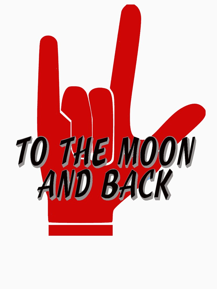 Love You To The Moon and Back Sign Language by Rightbrainwoman