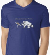William Shakespeare's Star Wars: Exit, pursued by Wampa Men's V-Neck T-Shirt