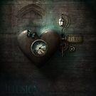 Heart Clock Quirky by Melanie Moor