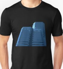 Blue Groovy Gray (Facemadics colorful abstract photography) Slim Fit T-Shirt