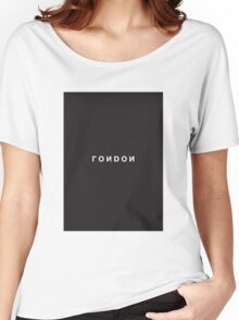 London Minimalist Black and White - Trendy/Hipster Typography Women's Relaxed Fit T-Shirt