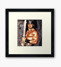 Jeff The Barbarian Framed Print