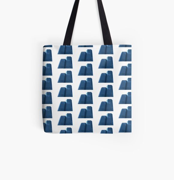 Blue Groovy Gray Repeat (Facemadics colorful abstract photography) All Over Print Tote Bag