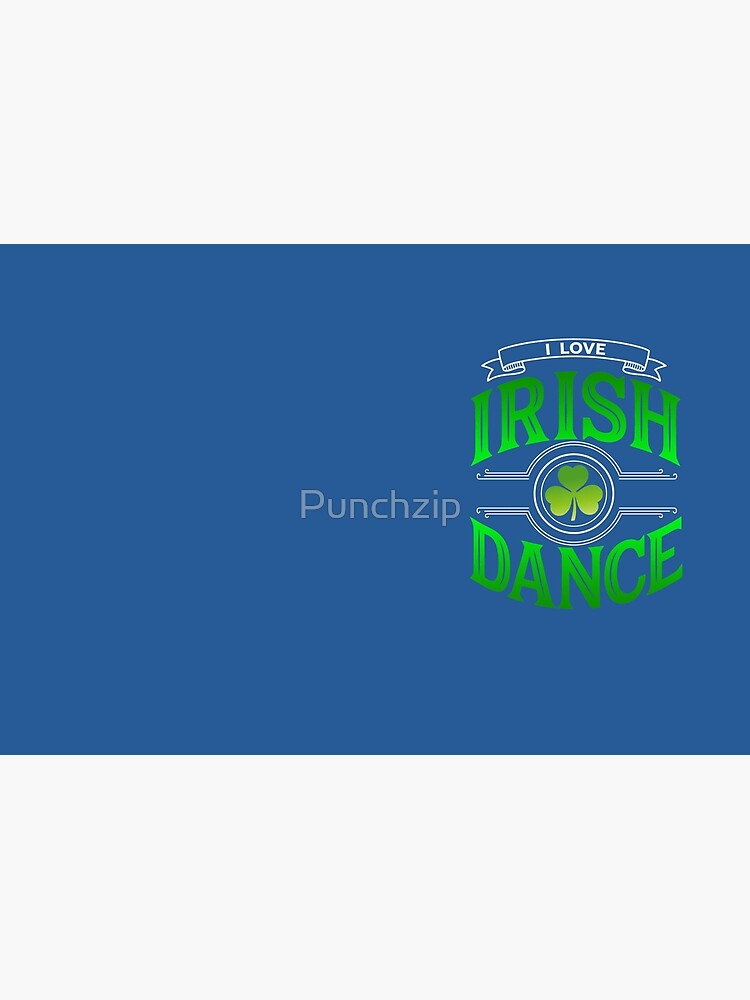 Traditional Irish Dance Lovers Shamrock Design by Punchzip