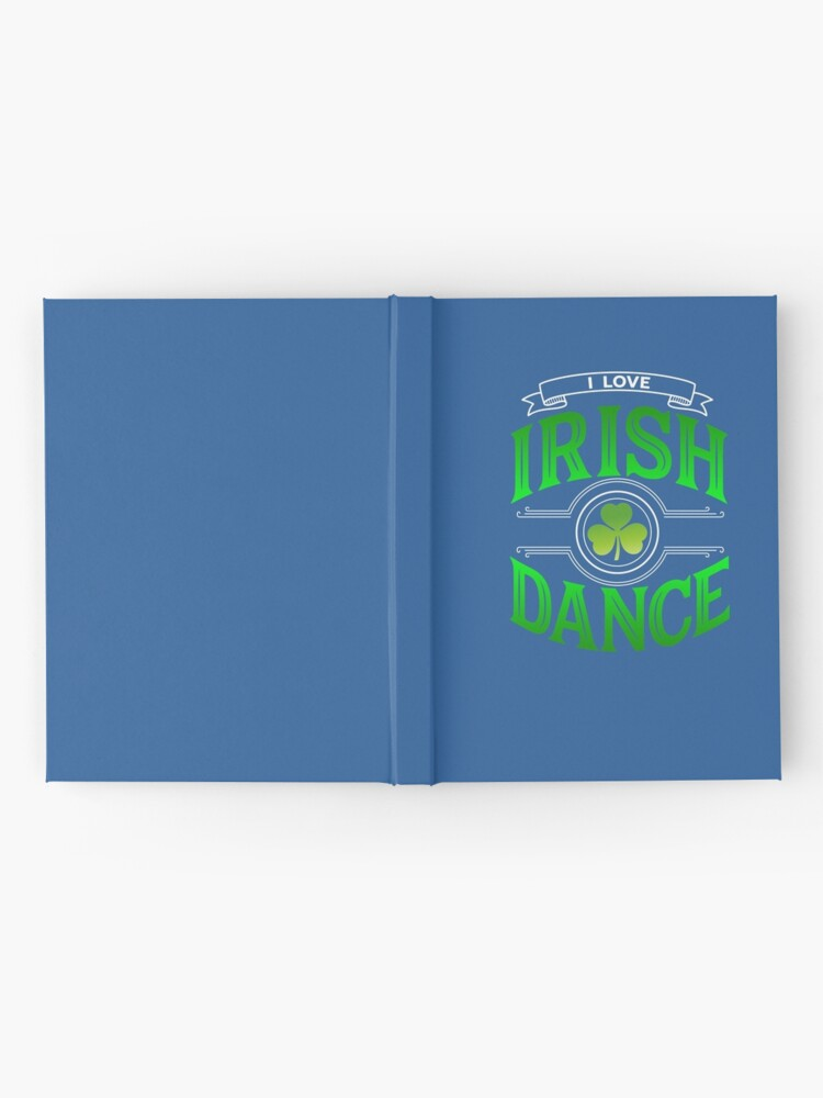 Alternate view of Traditional Irish Dance Lovers Shamrock Design Hardcover Journal