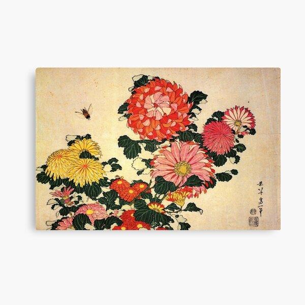 'Chrysanthemum and Bee' by Katsushika Hokusai (Reproduction) Canvas Print
