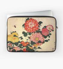 'Chrysanthemum and Bee' by Katsushika Hokusai (Reproduction) Laptop Sleeve