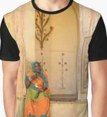 Workers in Amer Fort 01 Graphic T-Shirt