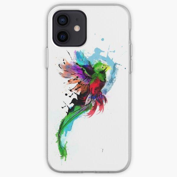 WaterColor Quetzal from Guatemala Funda blanda para iPhone