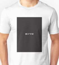 Milan Minimalist Black and White - Trendy/Hipster Typography T-Shirt