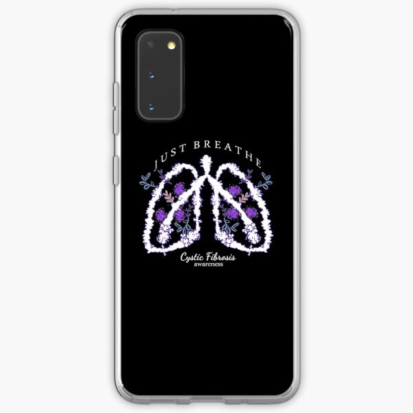 Cystic Fibrosis Awareness (White) Just Breathe Samsung Galaxy Soft Case