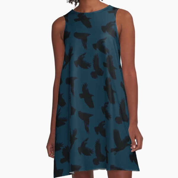 As The Crows Fly A-Line Dress