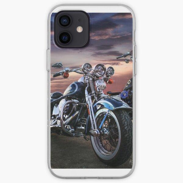 Harley Davidson beau coucher de soleil Coque souple iPhone