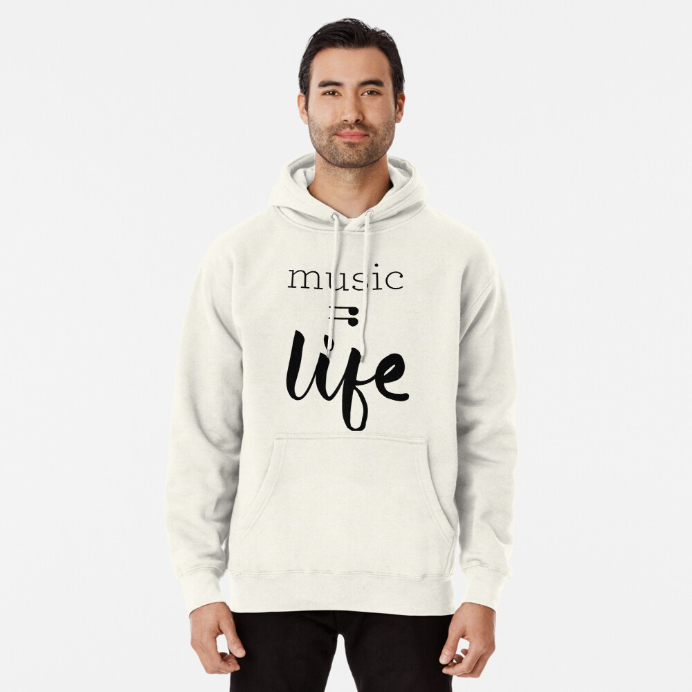 Music = Life Graphic Pullover Hoodie