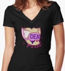 """""""Dead tired"""" menhera coyote Women's Fitted V-Neck T-Shirt"""