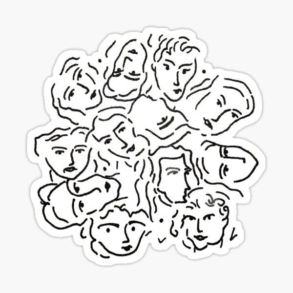 CMBYN visages Sticker