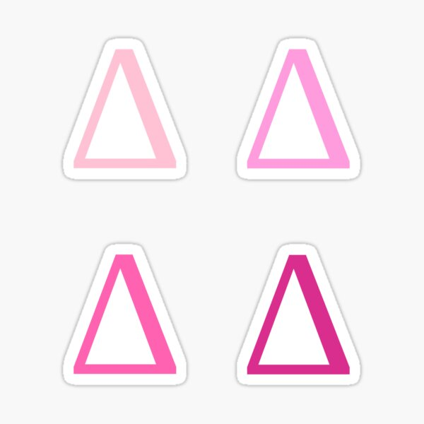 DELTA / 4 PACK / PINKS Sticker