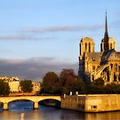 Notre Dame & Seine River by Mick Burkey