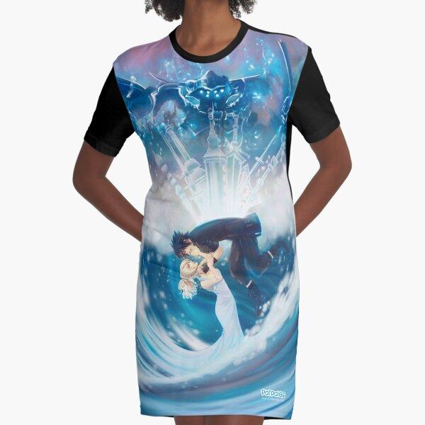 Moon and Night love Vestido camiseta