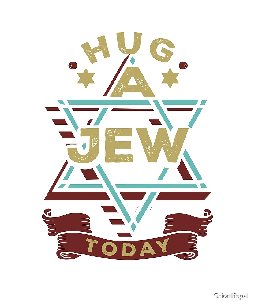 Hug a Jew Today Funny Passover Christmas Easter Gifts\