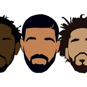 Drake, J Cole, Kendrick Lamar Sticker by samgendelman