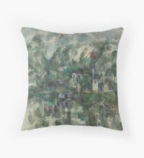 Classic Art At the Water's Edge Paul Cézanne Throw Pillow