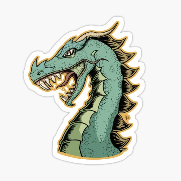 Fierce dragon Color Sticker