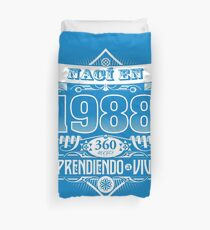 I was born in 1988 Duvet Cover
