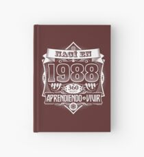 I was born in 1988 Hardcover Journal